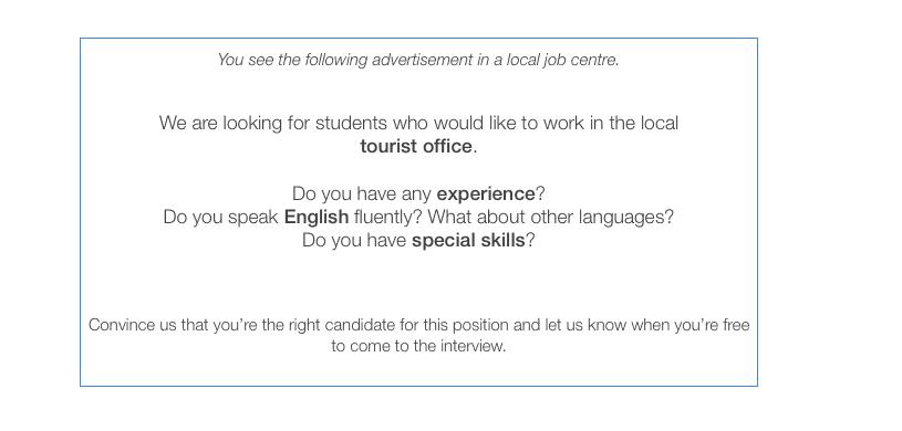 Jak Napisać Podanie O Pracę Po Angielsku Cambridge English First